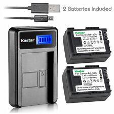 Kastar 2x Battery 1x USB LCD Charger Canon BP-808 Canon FS10 FS11 FS20 FS21 FS22