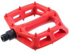 DMR V6 Pedals Flat Platform MTB Bicycle Bike Dual Du Bushings 327g Red Nylon
