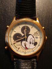 Vintage Seiko 7T32-6E99 MICKEY MOUSE ALARM CHRONOGRAPH WATCH Collectible Disney
