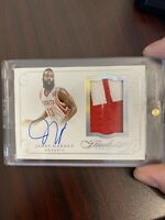 2014-15 PANINI FLAWLESS JAMES HARDEN PATCH AUTO AUTOGRAPH 10/25 2COL