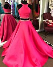 NWT 2pc Pink Fuchsia Embellished Top Skirt Prom Evening Pageant Dress XS M L