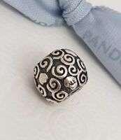 Authentic Pandora Silver Swirl Dots Charm 790161 retired 925 ALE