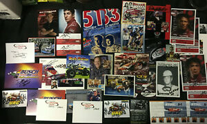 HUGE NASCAR AUTOGRAPH LOT HUNDREDS OF SIGNED PHOTOS M ANDRETTI, T STEWART, MORE