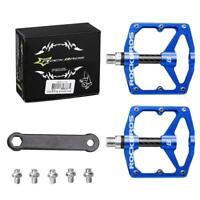 ROCKBROS Carbon Fiber Sealed Bearings Pedals Cycling MTB Road Bike Pedals Blue
