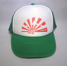 Green Snap Back Adjustable Mesh Cap Spin Play Ultimate Orange Sunburst Logo