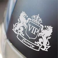 White VIP The Lion Funny Cartoon Car Sticker JDM Window Sticker Vinyl Decal