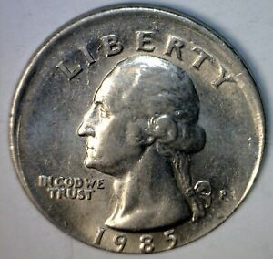 1985 ERROR OFF CENTER Washington Quarter Coin NICE O/C Lot #3   NR