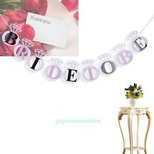 Bride to Be Heart Bunting Banner Garland Bridal Shower Wedding Party Decoration