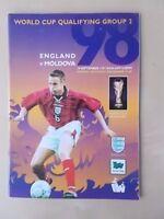 ENGLAND v MOLDOVA SEPTEMBER 10th 1997 - WORLD CUP QUALIFIER - VGC PROGRAMME