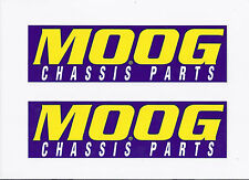 MOOG Chassis Parts Originals Racing Stickers / Decals die cut lot of 2
