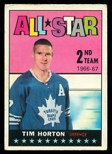 1967-68 TOPPS HOCKEY #127 TIM HORTON VG-EX TORONTO MAPLE LEAFS ALL STAR Card