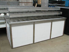 Shop Store Display Product Produce Counter Stainless Steel Compartments