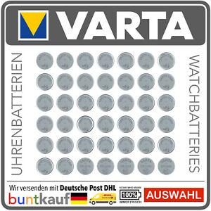 VARTA Silberoxid-Knopfzellen V301-V399 Lithium-Knopfzellen CR2016-CR2450 Auswahl