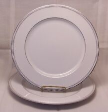 "Royal Doulton PARAMOUNT PLATINUM Set of 2 Dinner Plates 10.5"""