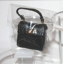 Fashion Royalty Black Croc hand bag Purse Poppy Parker Tres Chic Boutique  DB-1