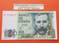 ESPAÑA 1000 PESETAS 1979 Serie H/E BENITO PEREZ GALDOS Pick 158 SC SIN CIRCULAR