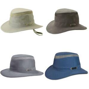 Tilley Mens Ladies T5MO Organic Cotton Airflo Medium Brim Hat Green Blue Grey