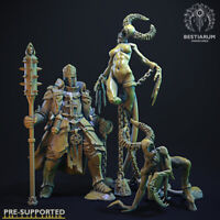 Bestiarum Miniatures Demon Hunter & Enslaved Demonesses x2