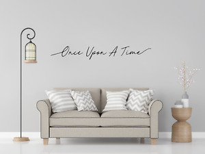 Once Upon A Time Quote Wall Art Decal Sticker Q162
