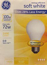 4 GE 72-Watt/100-Watt Output Soft White A19 Medium Base Light Bulbs 1490 Lumens