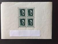 DR 1937 Briefmarken-Block 7, postfrisch mit Anklebfehlern, Mi-Nr 646