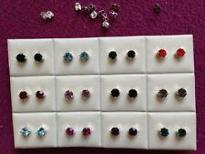 Rhinestone Screw Back (pierced) Stud Costume Earrings