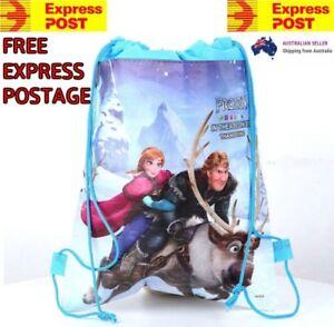 New Frozen Children Kids Drawstring Backpack School Swimming Bag Sleeve Hand!
