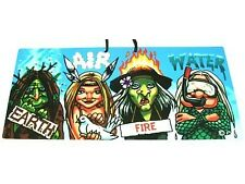 Humorous Witch PVC Hanging Sign Earth/Water/Fire/Air Pagan/Wicca/New Age