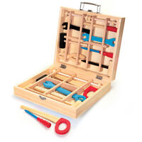 Kids Wooden Tool Kits Set Play Box Children Toddler Boy Girl Work Fun Toy 19068
