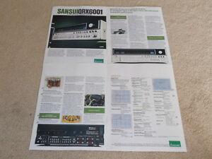 Sansui QRX-6001 Quad Empfänger Prospekt, 4 Pg , Info, Brille