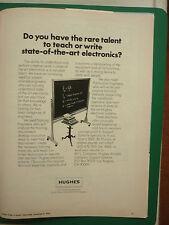 11/1978 PUB HUGHES AIRCRAFT COMPANY ELECTRONICS ENGINEERS CIRCUITRY ORIGINAL AD