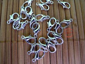 Moschettoni Chiusure Ganci di 15mm color Acciaio Bracciali Collane NICKEL FREE