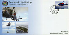 Mauritius 2019 FDC Rescue Lifesaving Police Helicopters 1v Cover Aviation Stamps