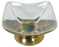 Georges Briard Signed Apple Dish & Brass Stand Footed Candy Compote