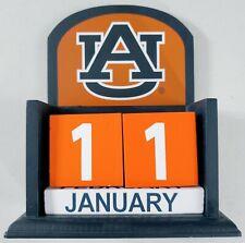 Auburn University Au Tigers Wooden Perpetual Desktop Calendar War Eagle