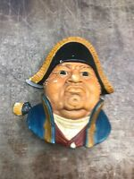 """1969  BOSSONS OLD HEAD CHALKWARE WALL HANGER """"MR. BUMBLE"""" MADE IN ENGLAND w/ TAG"""