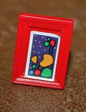 Playmobil accessoire cadre photo rouge maison moderne ref jj