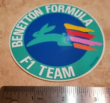 Benetton Formula F1 Team rare/original Stickers