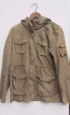 h&m size 16 brown khaki jacket coat festival parka R631