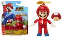 "Jakks Super Mario World of Nintendo Propeller Mario 4"" Action Figure NEW"