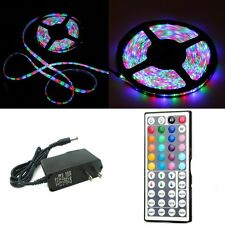 5M 3528 RGB LED Strip + AC + 44 Button Remote (300leds) (Non Waterproof) (16ft)