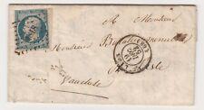 1852  LETTRE 25 c PRESIDENCE BORD DE FEUILLE TTB