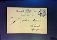 Bavaria 1880 Postal Card Used - Z846