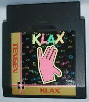 Tengen Klax (1990) Cartridge Nintendo NES Game Authentic Tested Good
