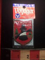 Vtg Plymouth Massachusetts Patch - Pilgrim Colonist 75WT