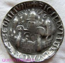 MED4230 - MEDAILLE sceau de VILLE en Etain - SIGILLUM CIVITAS