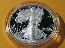 2004-W American Silver Eagle Proof 1 Ounce 999 Fine Silver #6 COA & OGP
