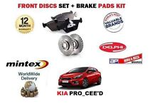 """FOR KIA PRO CEED 1.6 1.6TD 2013-> FRONT BRAKE DISCS SET AND DISC PADS KIT 16"""""""