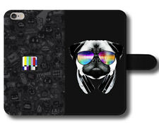 Pug Glasses Colours Tv Channel Funny Quotes Magnetic Leather Phone Case Cover