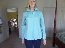 Lilly Pulitzer Seafoam Blue Button Up Cotton Shirt Size 4